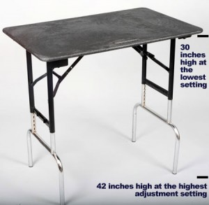 GroomRight Medium Tall Table